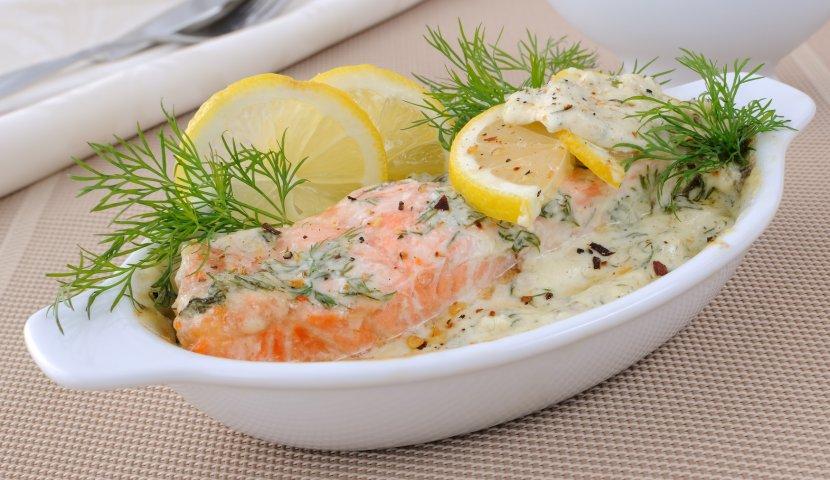 Запечь семгу в сливочном соусе в духовке рецепт