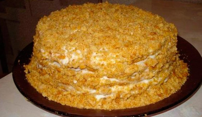 Рецепт торта с кремом с пошаговыми в домашних условиях