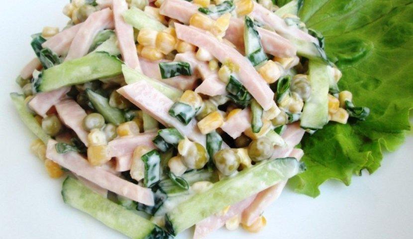 Салат с ветчиной сыром грибами и картошкой