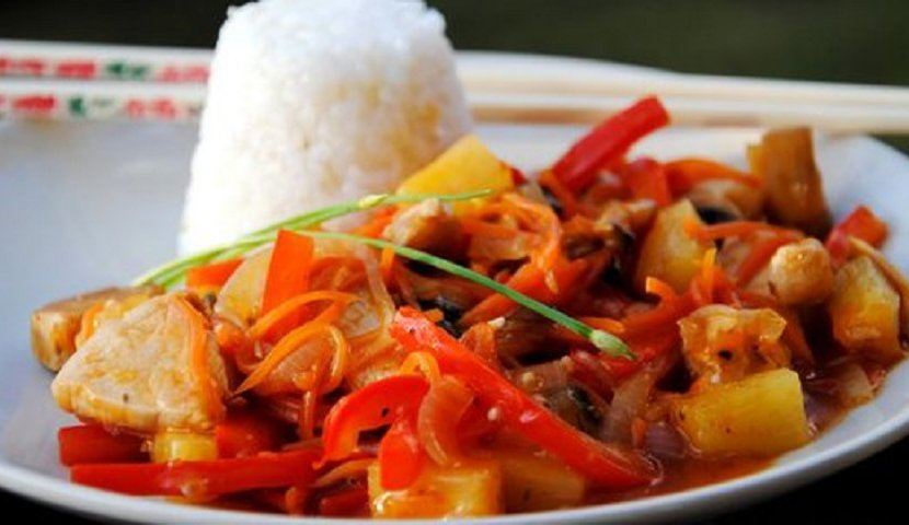 Овощи в кисло сладком соусе по китайски рецепт с пошагово