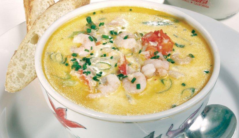 Мультиварка суп креветки